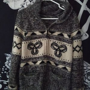 Wool button up TNA sweater